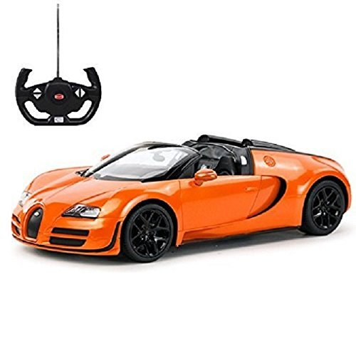 (Radio Remote Control 1/14 Bugatti Veyron 16.4 Grand Sport Vitesse Licensed RC Model Car (Orange))