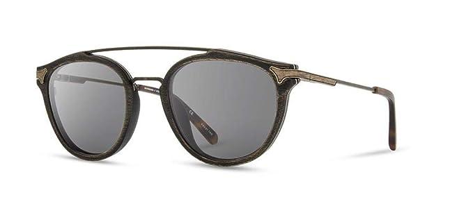 Amazon.com: Shwood Kinsrow - Gafas de sol redondas de madera ...