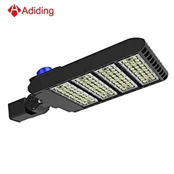 Image of Led Parking Lot Lighting 300 Watt, Adiding Street Area Shoebox Pole Light with Photocell Sensor Slip Fitter Mounting 130Lm/W Daylight 5700K Bright White Light Shorting Circuit Cap IP66