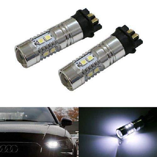 iJDMTOY (2) Xenon White Error Free PWY24W LED Bulbs For Audi A3 A4 A5 Q3 VW  MK7 Golf CC Ford Fusion Front Turn Signal Lights, BMW F30 3 Series DRL