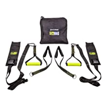 GoFit Gravity Straps for Door Way Installation, No Screws, for Pull ups, Push Ups, Ab Training, Total Body Workouts
