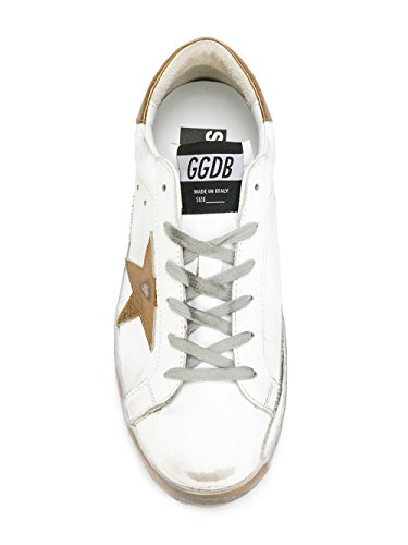 Golden Goose Sneakers Donna G31WS590C48 Pelle Bianco/Oro