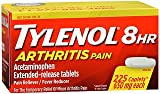 Tylenol 8 HR Arthritis Pain - 225 Caplets, Pack of 6