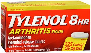 Tylenol 8 HR Arthritis Pain - 225 Caplets, Pack of 6 by Tylenol