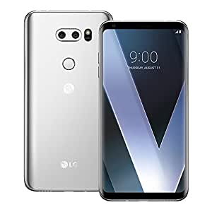 LG V30 Plus (H930DS) 4GB/128GB 6.0-inches with B&O headset Dual SIM Factory Unlocked - International Stock No Warranty (Cloud Silver)