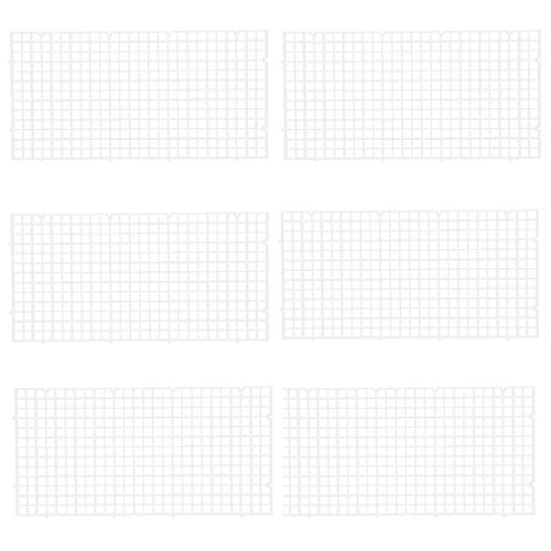 OBANGONG 6 Pcs Grid Divider Tray Isolate Board Fish Tank Bottom White Filter Tray Aquarium Crate by OBANGONG