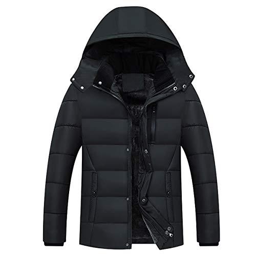 Trench Coton Manteau Capuchon Homme Hiver Casual coat Chaud Noir Blouson En Allthemen Capuche Parka À qtwPxaga