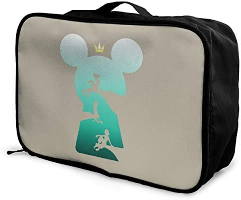 アレンジケース キングダムハーツ 旅行用トロリーバッグ 旅行用サブバッグ 軽量 ポータブル荷物バッグ 衣類収納ケース キャリーオンバッグ 旅行圧縮バッグ キャリーケース 固定 出張パッキング 大容量 トラベルバッグ ボストンバッグ
