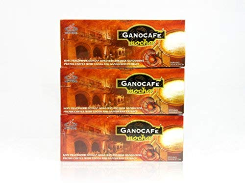 Gano Excel Mocha Coffee With Ganoderma Lucidum Extract 3 Boxes Pack FREE EXPRESS SHIPPING 2-3 Days + FREE Sachets