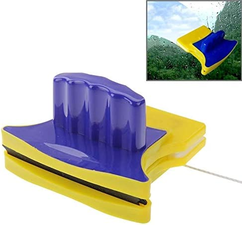 キッチンクリーニングツール 磁気両面ガラスクリーナー(ブルー+イエロー)