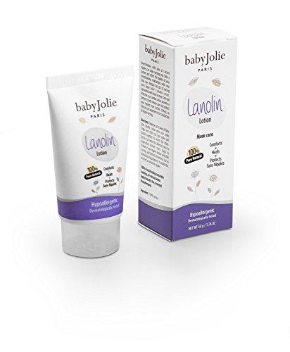 Baby Jolie Mom Care 100% Natural Lanolin Nipple Cream for Safe Breastfeeding for Babies 1.76 Oz