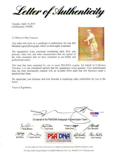 Wild Bill Hallahan Autographed M114 Baseball Magazine Page Photo St. Louis Cardinals #Y05481 PSA/DNA Certified