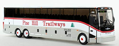 - Vanhool CX-45 Pine Hill Trailways Diecast Bus New York 1:87 Scale/HO Scale Model Bus Iconic Replicas