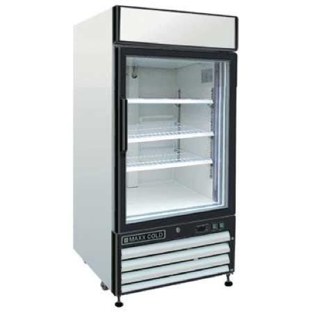 Maxx Cold MXM1-12F X-Series Reach In Freezer Single Glass Door ()
