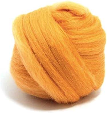 Marigold naranja amarillo, lana merino – 50 gm. Ideal para húmedo ...