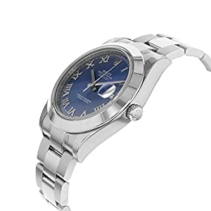 NEW Rolex Datejust II 41MM Stainless Steel Blue Dial Roman Oyster Mens watch 116300 BLRO