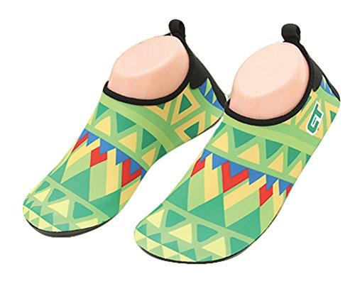 Scuba Haut Schuhe Muster JDS Diving Schwimmen Rutschfeste Socken Neoprenanzug Geometrische Stiefel Unisex Fortuning's Grün Summer Schnorcheln gqwPv7va