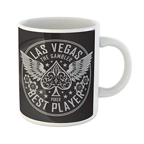Semtomn Funny Coffee Mug Spade Las Vegas Player Poker Tee Graphics Ace Vintage 11 Oz Ceramic Coffee Mugs Tea Cup Best Gift Or Souvenir]()