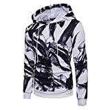 Pandaie Womens Jacket,Mens' Long Sleeve Hoodie Hooded Sweatshirt Tops Printed Jacket Coat Outwear