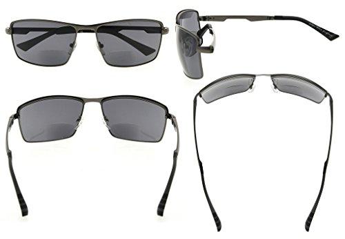 de lectores sol Gafas hombres para lentes Negro Eyekepper de 75 Gunmetal aire bifocales lectura 1 al libre TX8dqUq