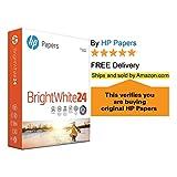 HP Printer Paper BrightWhite 24lb, 8.5x 11, 5