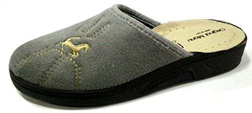 original manu - Zapatillas de estar por casa de tela para hombre gris gris 43