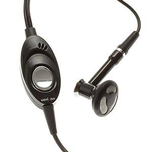 Headset MONO 2.5mm Hands-free Earphone Single Earbud Headphone Earpiece w Mic Black for Verizon LG Versa VX9600 - Verizon LG Voyager VX10000 - Verizon LG VX-6100 - Verizon LG VX5300