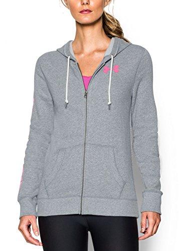 Wordmark Full Zip Hoodie - Under Armour Women's UA Favorite Fleece Word Mark Full Zip Hoodie Small True Gray Heather