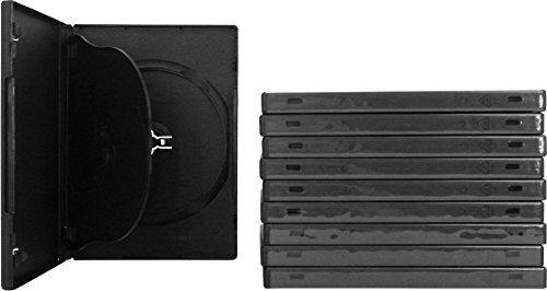 SquareDealOnline - DV3R14BKWT - 3 Disc Standard Size DVD Cases - Black - (10 - Dvd Cases Disc 10 Black