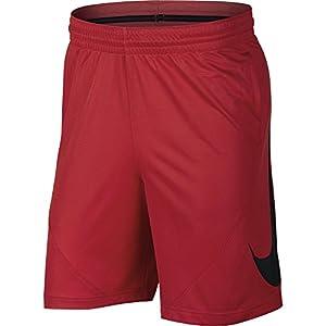 NIKE Men's HBR Basketball Shorts, University Red/Black/White/White, Medium