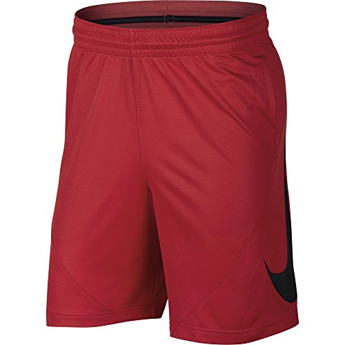 (NIKE Men's HBR Basketball Shorts, University Red/Black/White/White, Medium)