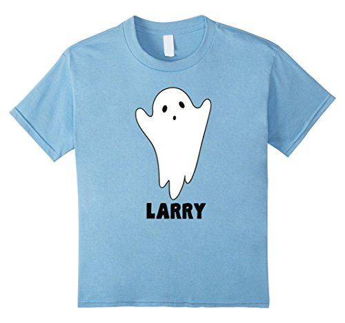 Larry Boy Costume (Kids Halloween Ghost with a Name Costume TShirt for Larry 8 Baby Blue)