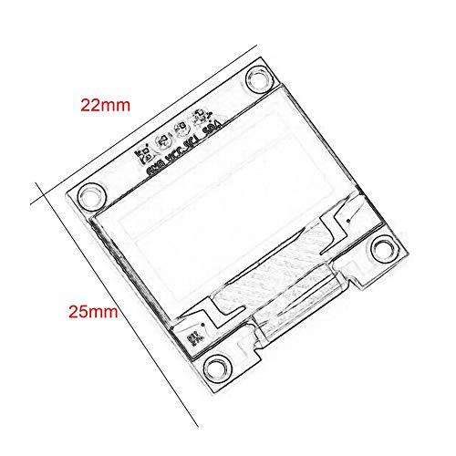 0,96Gelb Blau//Blau//Wei/ß I2c IIC Seriell OLED LCD LED Modul 128X64 f/ür Arduino Display Raspberry PI 51 Msp420 Stim32 SCR