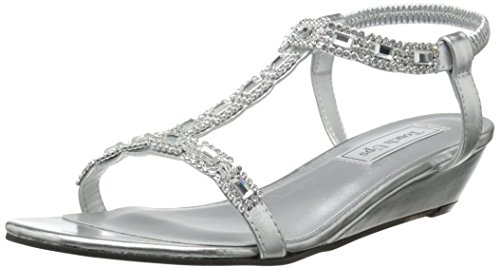 (Touch Ups Women's Jazz Wedge Sandal, Silver, 9 M US)