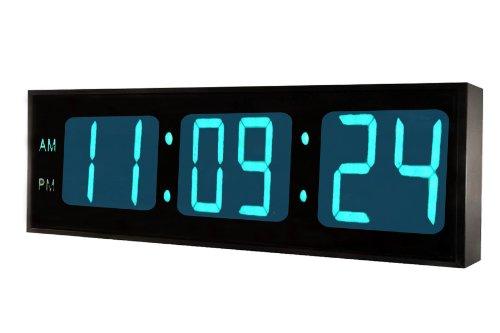 DBTech 0124BLU Huge Large Big Oversized Digital LED Clock, Blue
