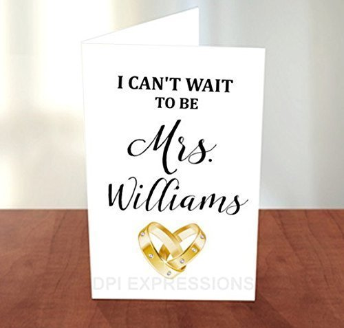 I Can't Wait To Be Mrs., Personalized Wedding Day Card, Heart Wedding Ring Card, Future Husband, Love Note Card, From Bride To Be (Letter To My Dad On My Wedding Day)