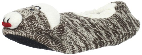 Muk Luks Womens Sock Monkey Slipper, Brown, Medium from MUK LUKS