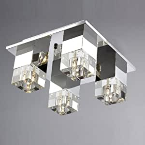 Amazon.com: Silver Stainless Steel Crystal Living Room