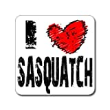 I Love Heart SASQUATCH - Bigfoot - Window Bumper Laptop Sticker