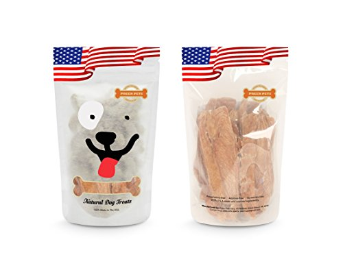 Preen Pets Chicken Jerky Dog Treats, 5 By 2 By 2/8-Inch