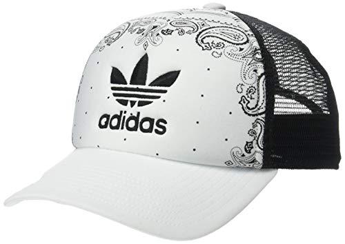 adidas Women's Originals Foam Trucker Cap, White/Black Bandana Print, One Size