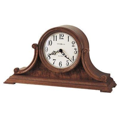 Anthony Chiming Quartz Mantel (Brown Oak Tambour Clock)