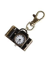 ALIENWOLF Montre de poche Charm Camera Quartz Pocket Key Chain Ring Watch Pendant Kids Gift