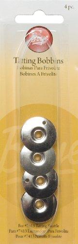 Metal Shuttles - Boye 3707414 Metal Tatting Bobbins, 4-Pack