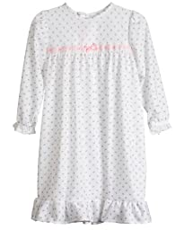 Laura Dare Baby Girls Rosebud Jersey Infant Long Sleeve Pajama Nightgown, 12m