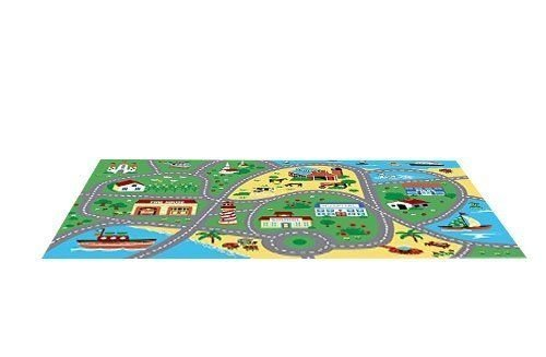 Furnish my Place City Street Map Children Learning Carpet/Kids Rugs Boy Girl Nursery/Bedroom/Playroom/Classrooms Play Mat, Rectangle, 3'3'' L by Furnish my Place (Image #3)