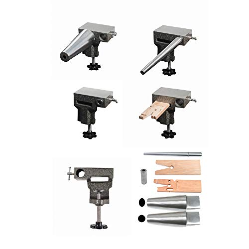 Bench Anvil Deluxe Kit- Round and Oval Bracelet Mandrels, Ring Mandrel,Bench Pin, and Steel Anvil - SFC Tools - 13-135
