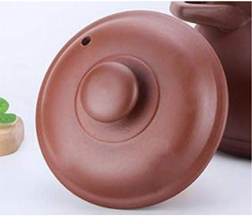 Casserole haute température Casserole en céramique Multifonctionnel,Ménage non émaillé de résistance à hautes températures de flamme nue de soupe pourpre de sable-3.0L