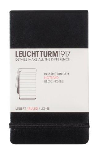 Leuchtturm Reporter Notepad, Ruled, 3.5 x 6 Inch (LBR11)