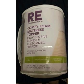 Amazon Com Room Essentials 174 Comfy Foam Mattress Topper Xl